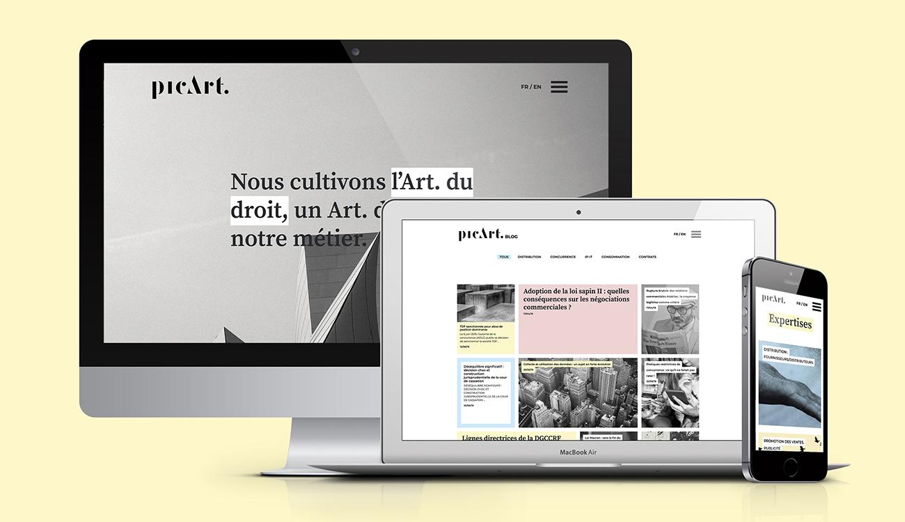Picart Law - types top - identité visuelle - digital