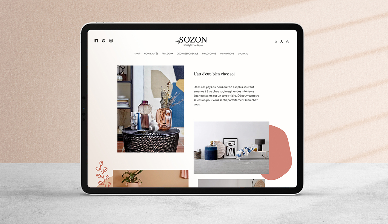 Sozon lifestyle boutique - types top - site