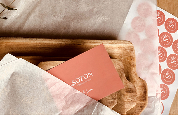 Sozon lifestyle boutique - types top - carte de visite