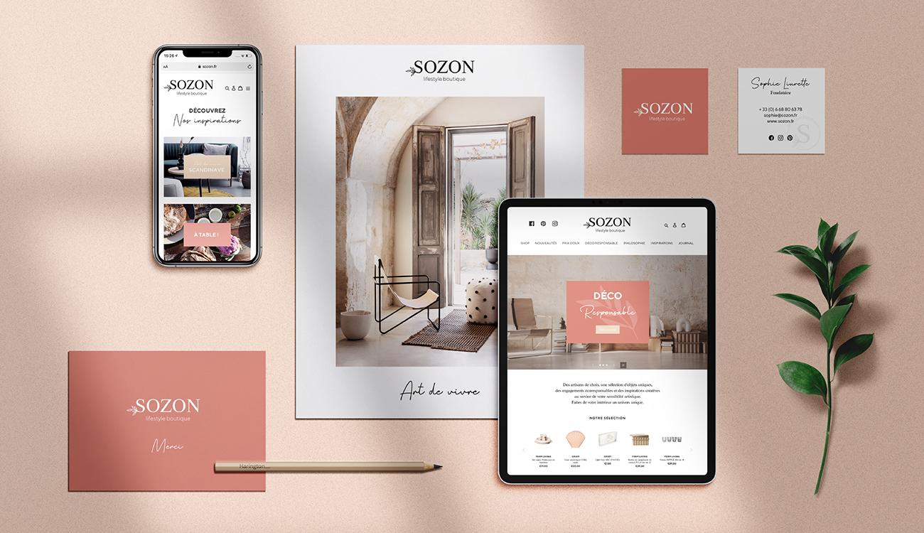 Sozon lifestyle boutique - types top - papeterie et digital