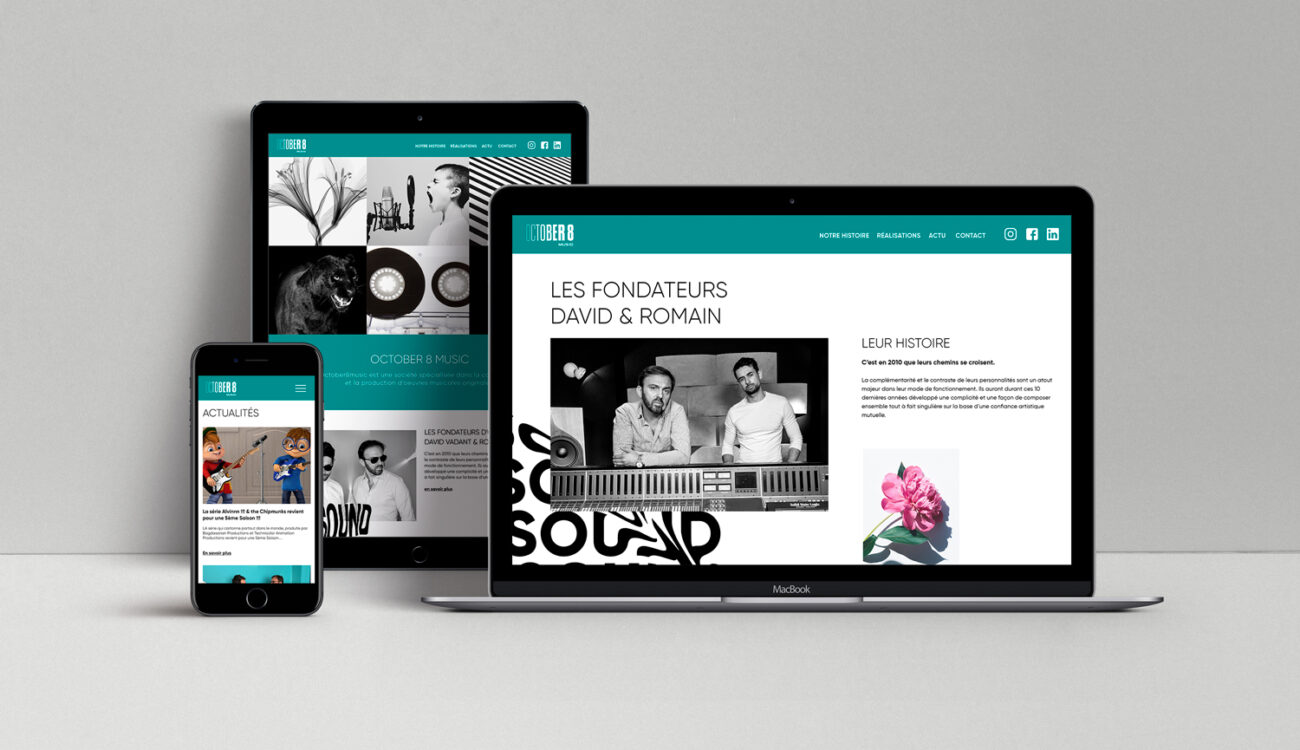 October 8 Music - site internet